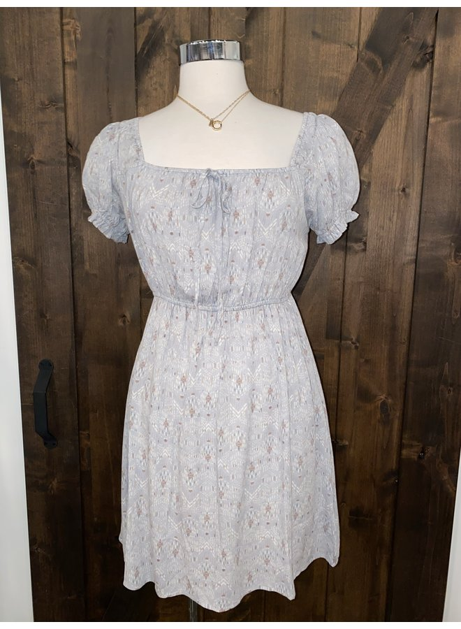 VINTAGE SQUARE NECK DRESS *2 colors available*