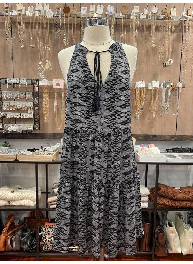 ID31059 AZTEC HALTER DRESS