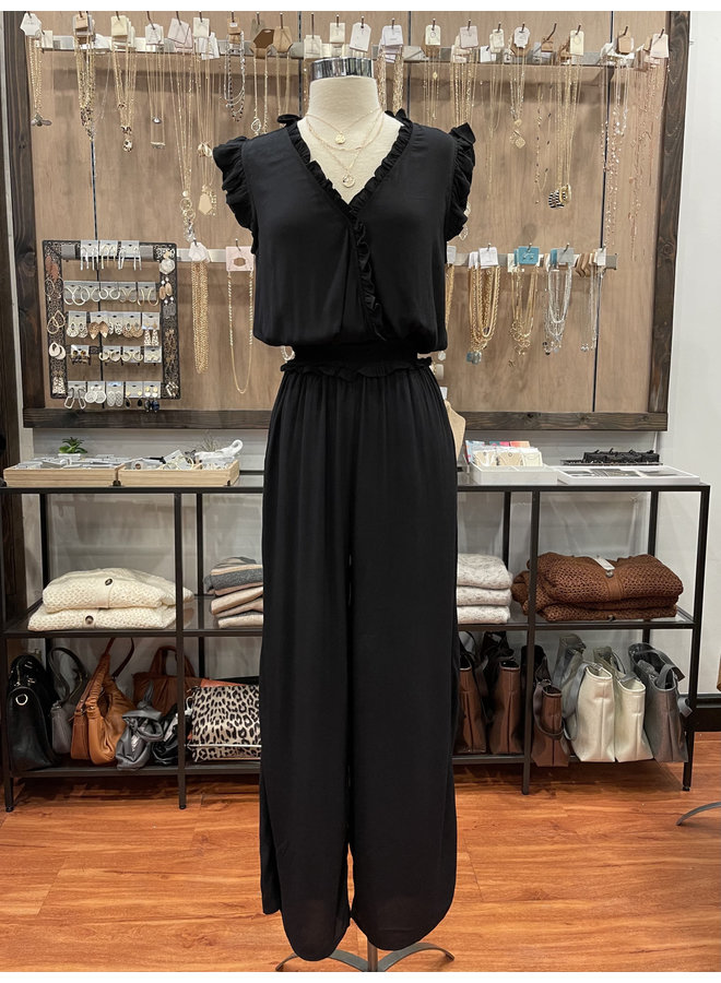 RUFFLE JUMPSUIT *2 colors available*