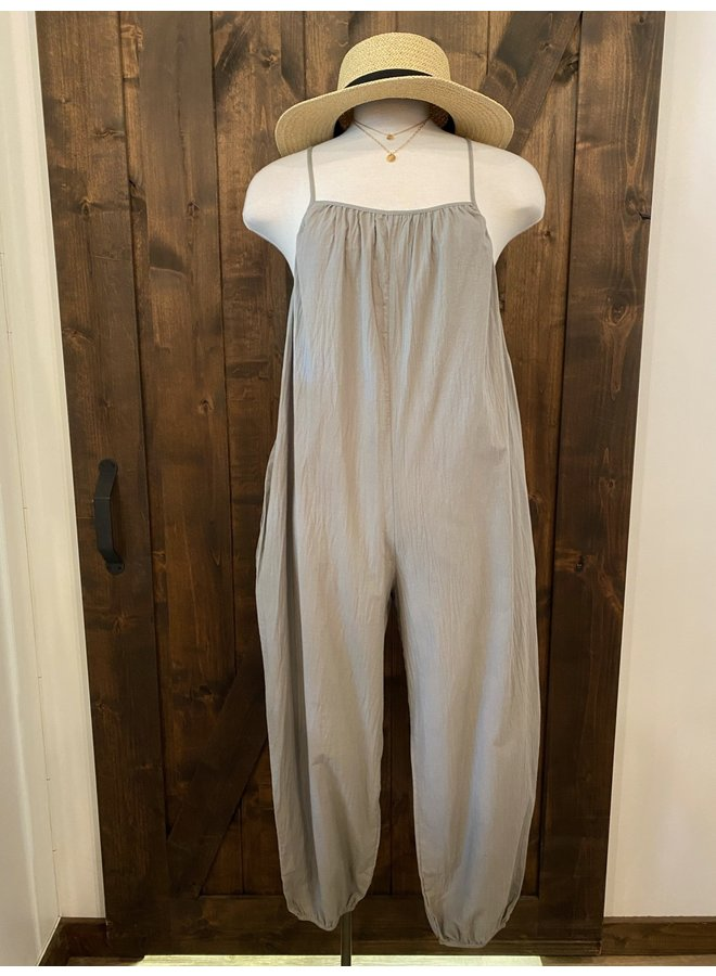 COTTON ONESIE JUMPSUIT