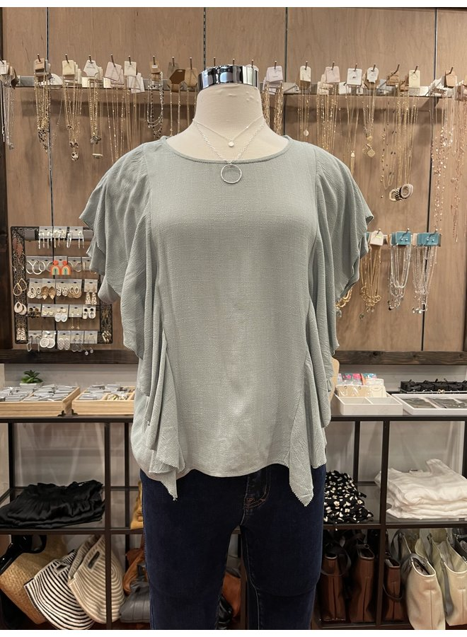 RUFFLED UP BLOUSE *2 colors available*