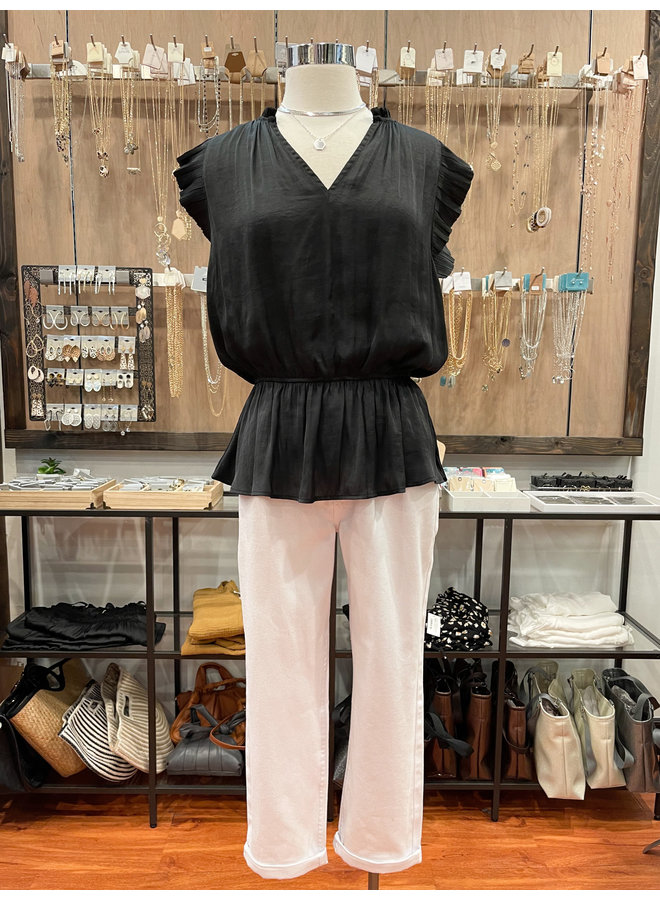 40553 PLEATED BLOUSE