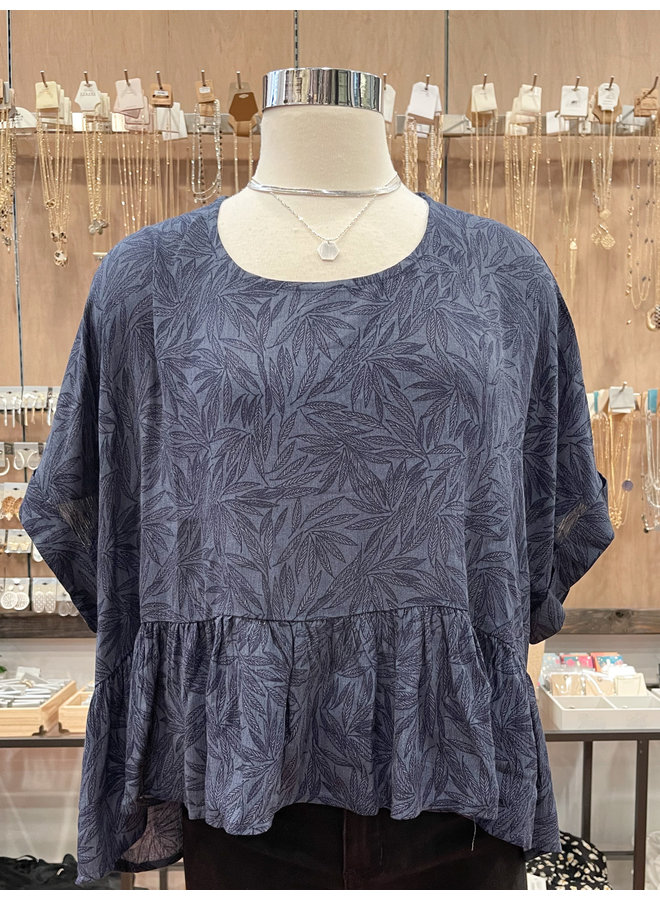LEAF PRINT TOP *2 colors available*