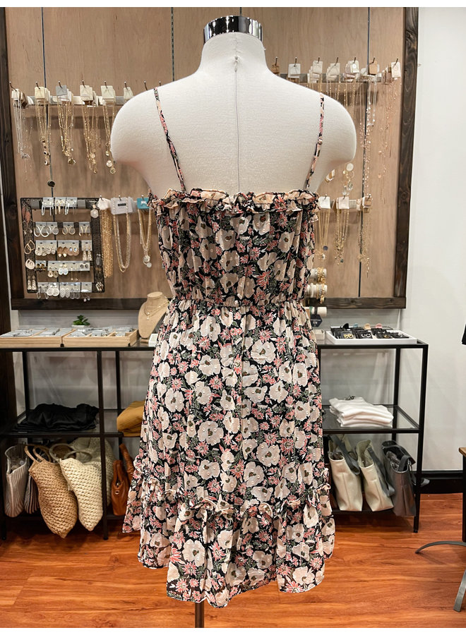 DR96254B-I FLORAL WOVEN DRESS