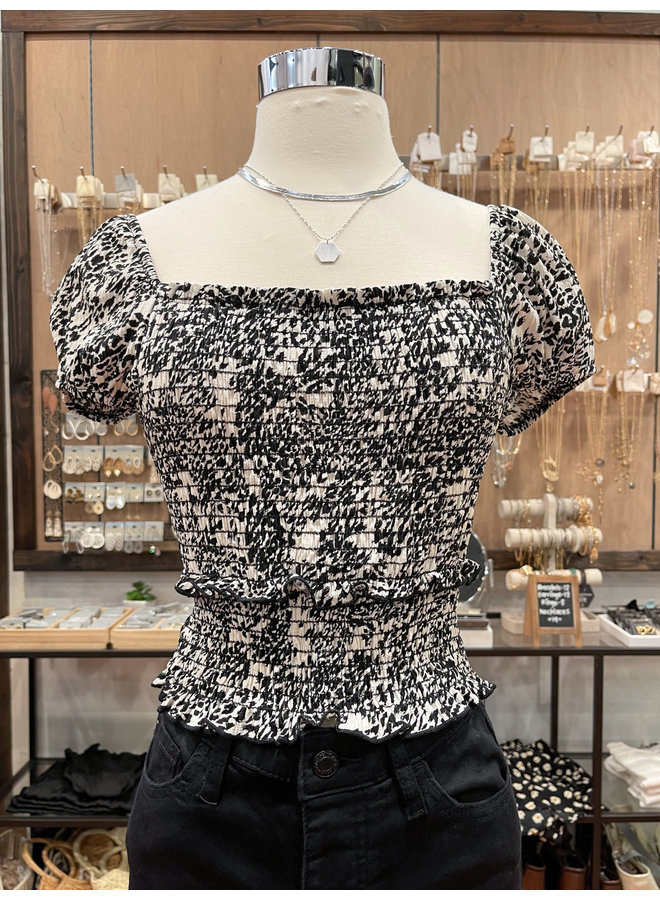 T16308 KNIT TOP PRINTED