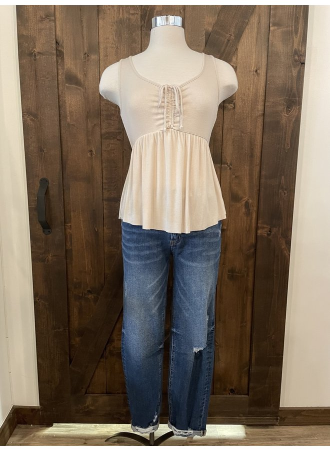 T30311 FRONT RUCHED TOP