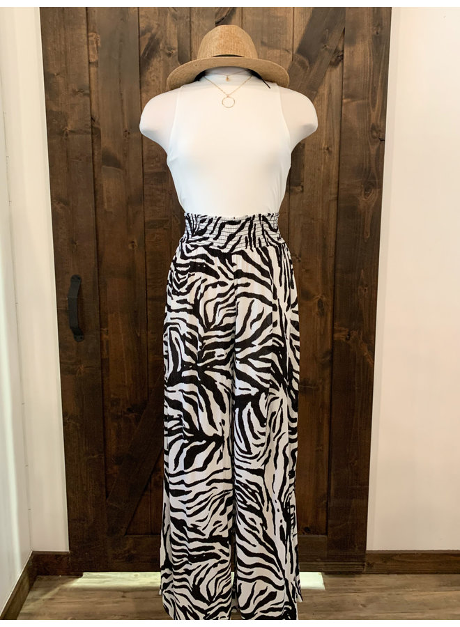 ZEBRA WIDE LAGE PANTS