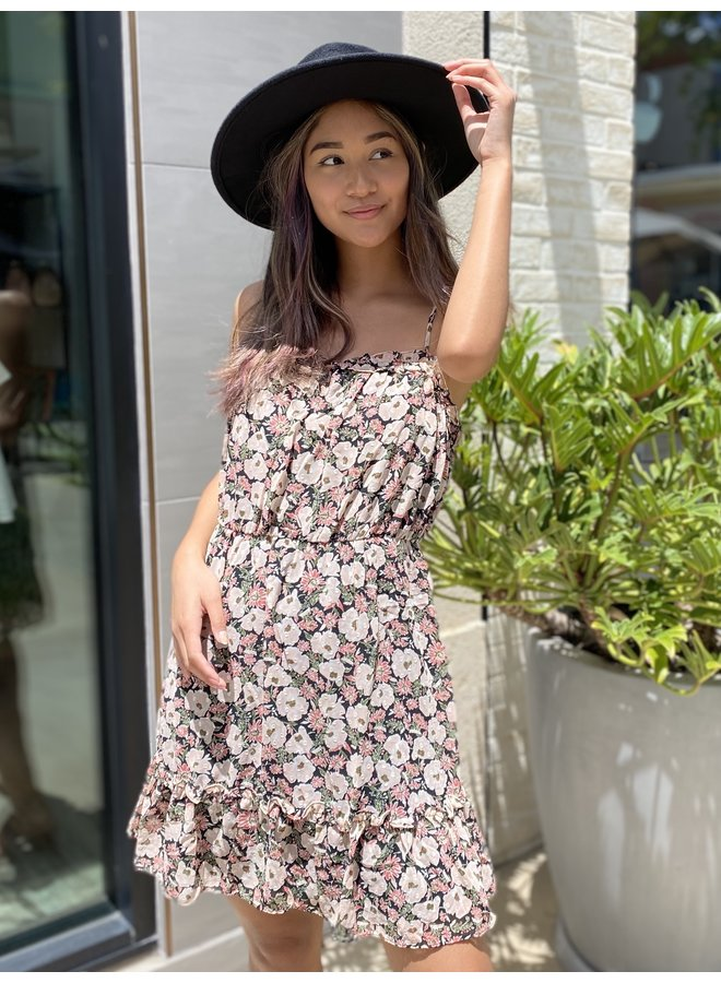 FLORAL WOVEN DRESS