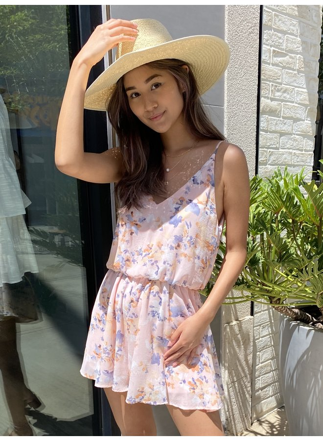 CHIFFON FLORAL ROMPER *2 colors available*