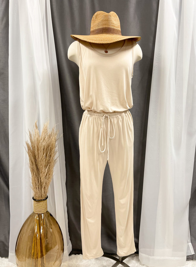 SLEEVELESS JUMPSUIT *3 colors available*