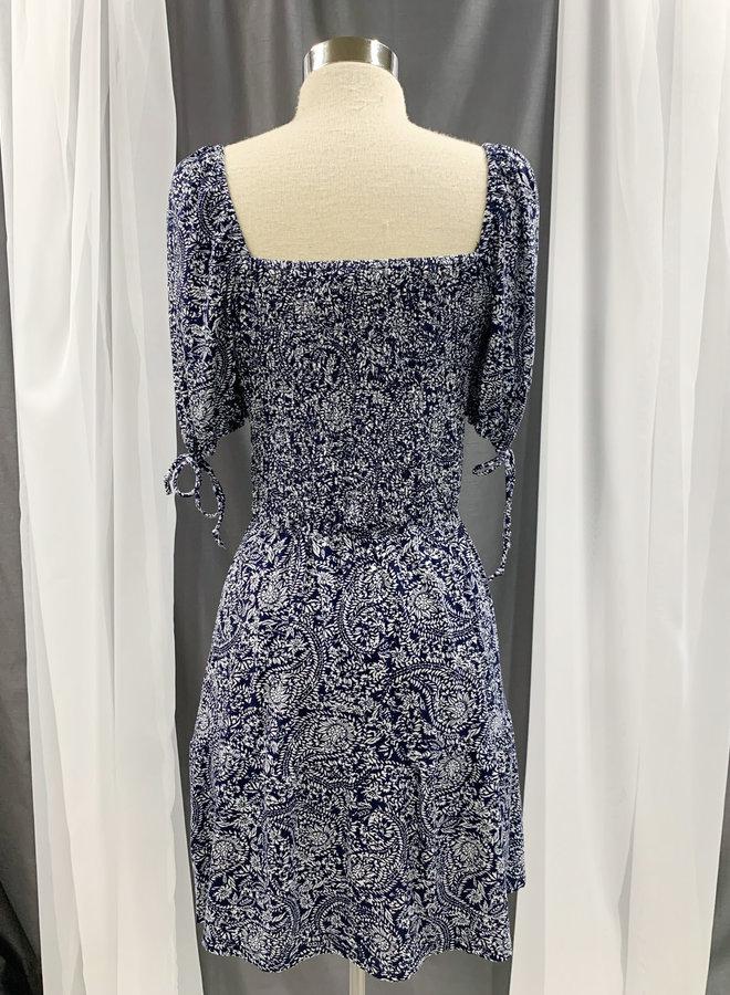 ID31070 PAISLEY SMOCK DRESS