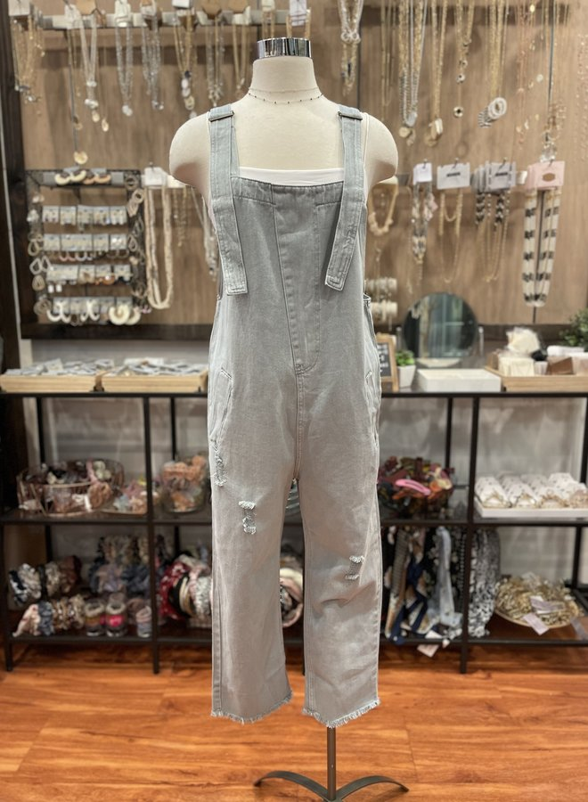 RIPPED WASHED OVERALL