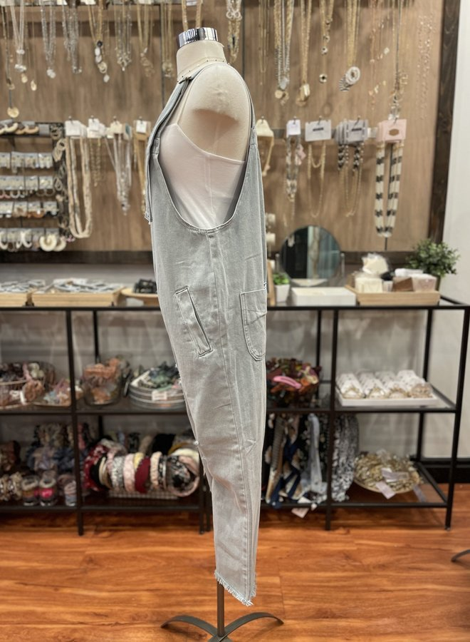 SJ18623-A RIPPED WASHED OVERALL