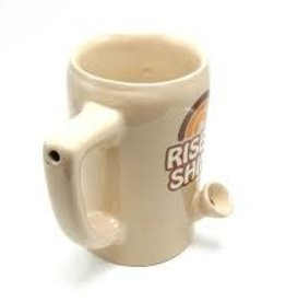 Ceramic Mug Pipe 8oz Beige Rise & Shine