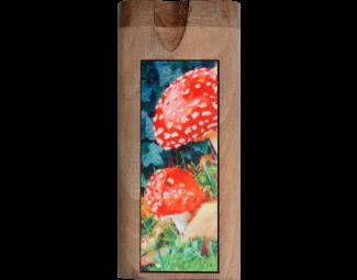 Dougs Large Dugout Color Inlay Amanita Mascaria Fungus