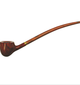 "11"" Bent Churchwarden Pipe Apple"
