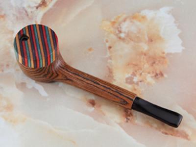 "THE MILL Exotic Calumet Wood 4.25"" Pipe W/ Rainbow Cap"