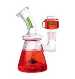 OOZE Glyco Clycerin Chilled Glass Water Pipe Scarlet