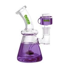 OOZE Glyco Clycerin Chilled Glass Water Pipe Ultra Purple