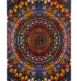 SJ 3D Tapestry Colorful Cat Mandala