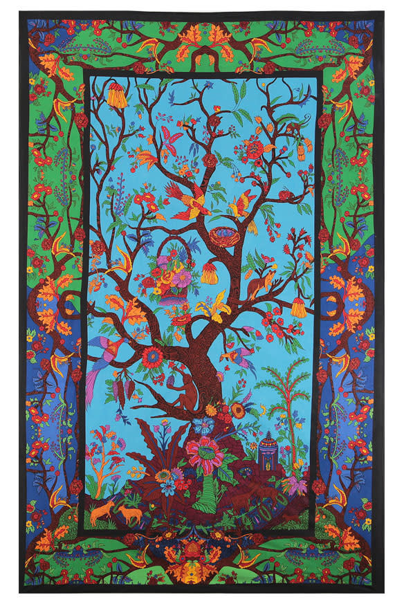 SJ 3D Tapestry Colorful Tree of Life