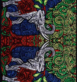 SJ 3D Tapestry Elephant Tree