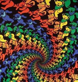 SJ 3D Tapestry Grateful Dead Dancing Spiral Bears
