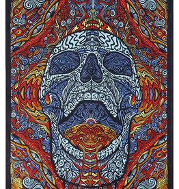 SJ 3D Tapestry Mindful Skull