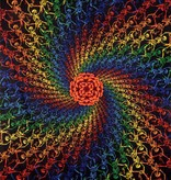 SJ 3D Tapestry Multi-Color Spiral Skeleton