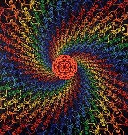 SJ 3D Tapestry Multi-Color Spiral Skeleton