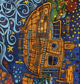 SJ 3D Tapestry Steampunk Tugboat