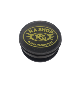 Ra Shop Grinder Black w Yellow Logo