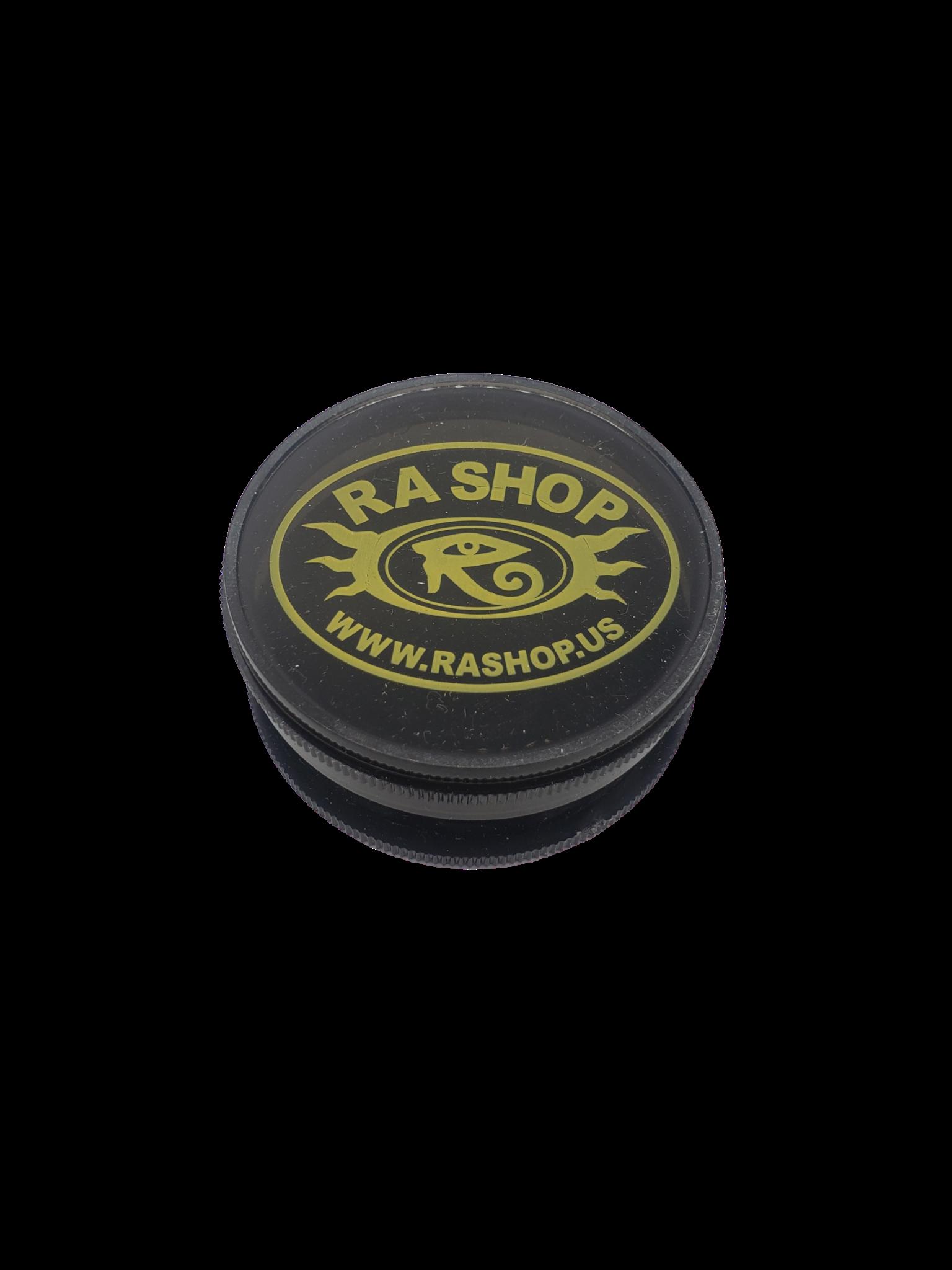 Ra Shop Grinder Black w Yellow Logo