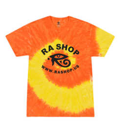 Ra Shop Tie Dye T-Shirt Orange/Yel Sm