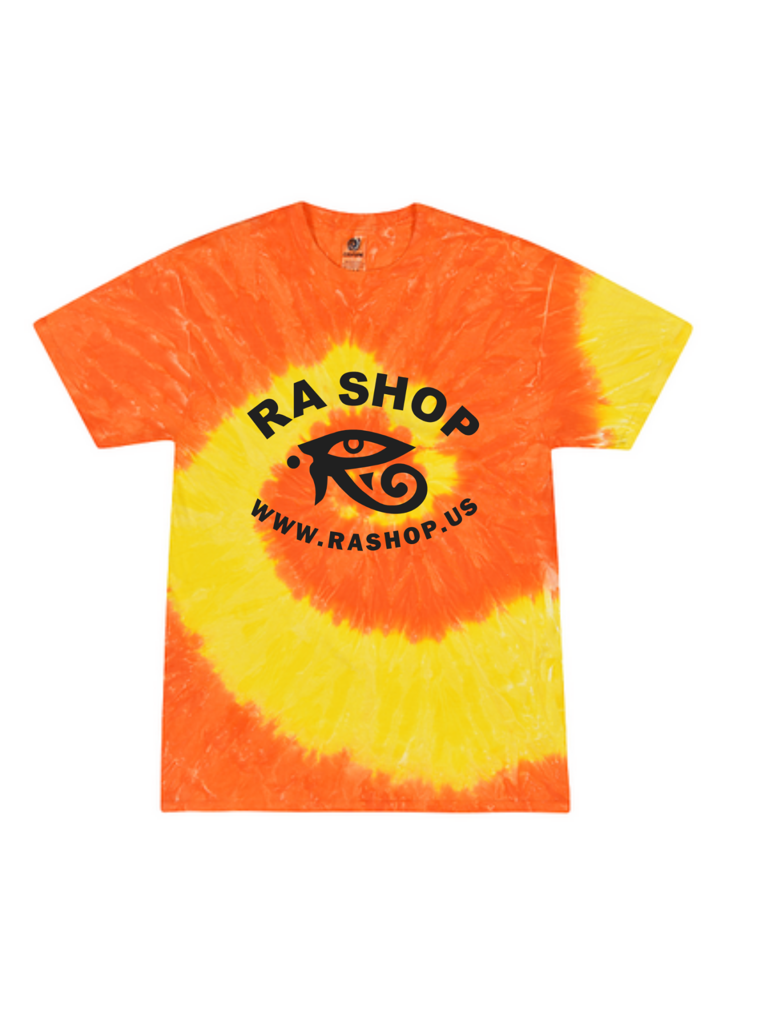 Ra Shop Tie Dye T-Shirt Orange/Yel Lg