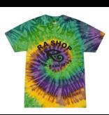 Ra Shop Tie Dye T-Shirt Mardi Gras Lg