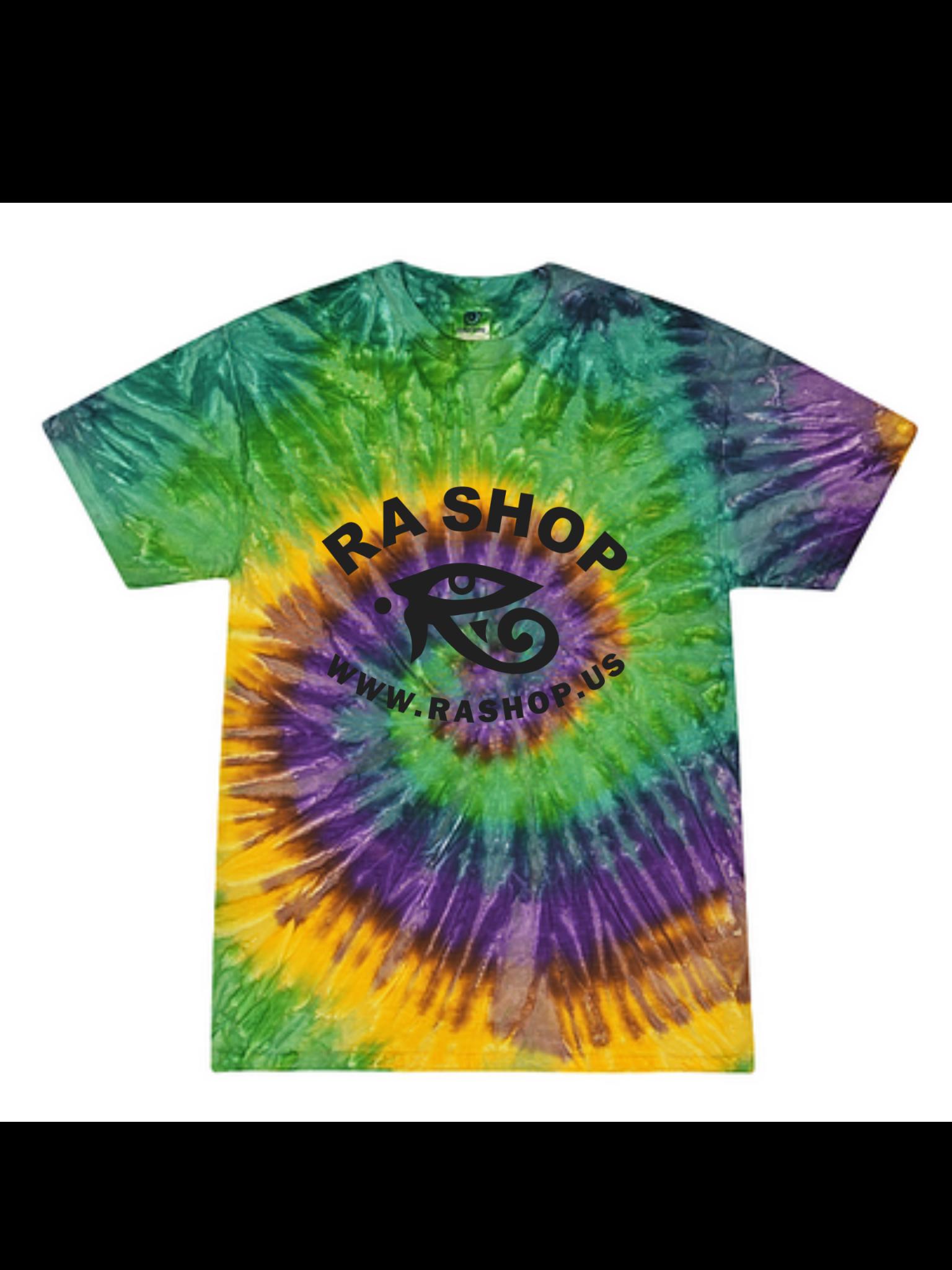 Ra Shop Tie Dye T-Shirt Mardi Gras XL