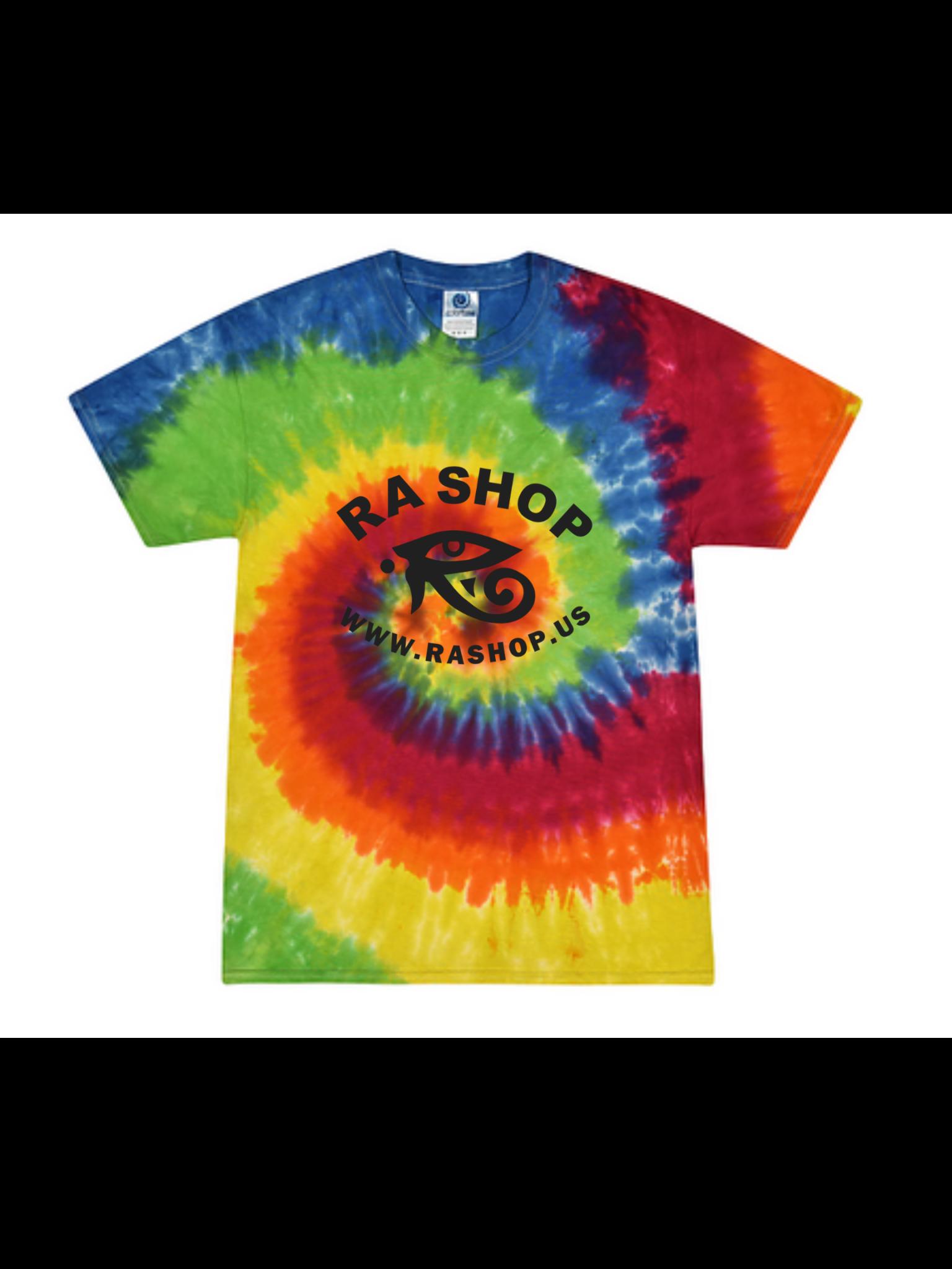 Ra Shop Tie Dye T-Shirt Rainbow 2XL