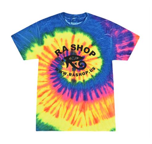 Ra Shop Tie Dye T-Shirt Neon Lg
