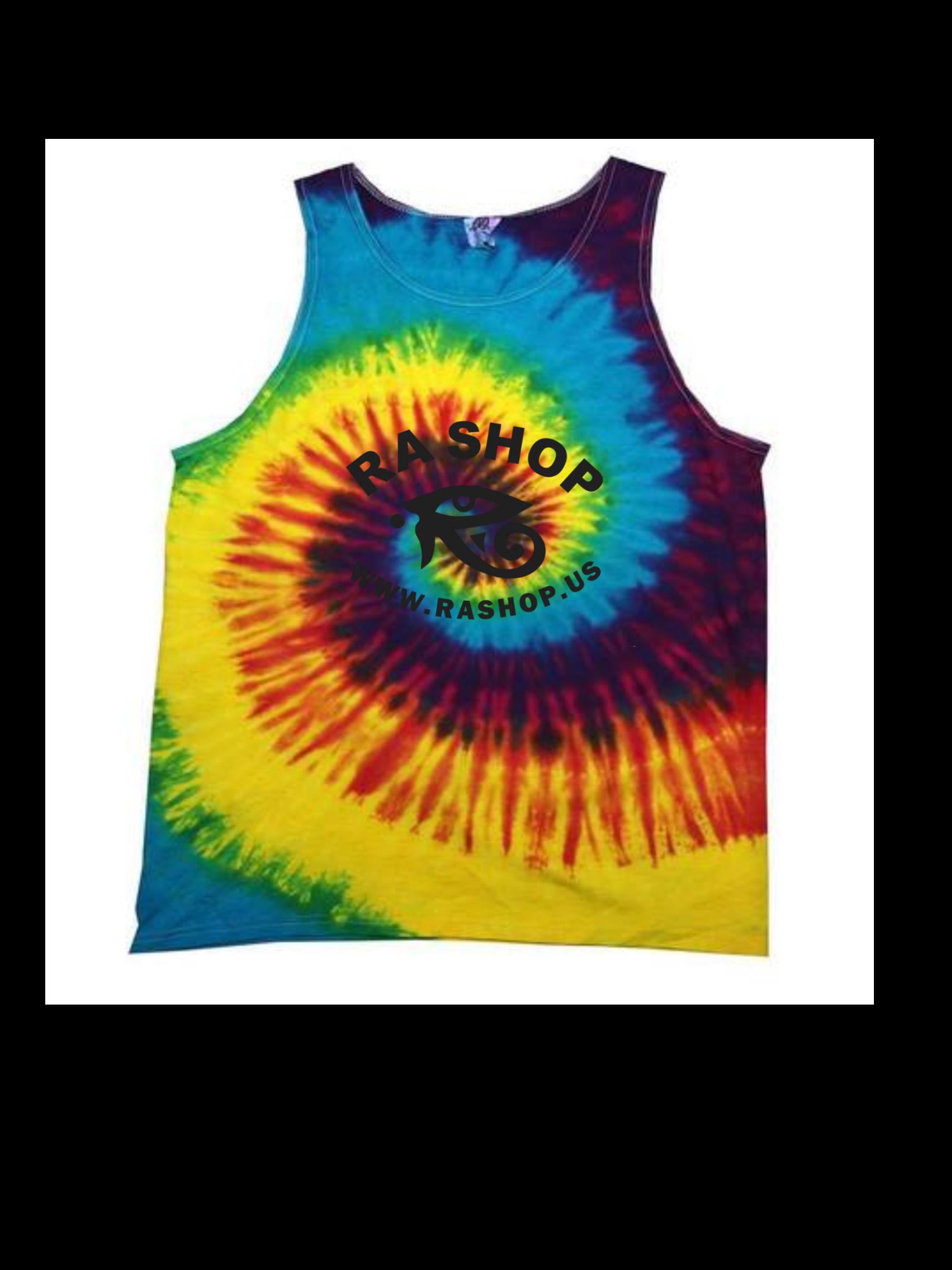 Ra Shop Tie Dye Tank Top Rainbow Md