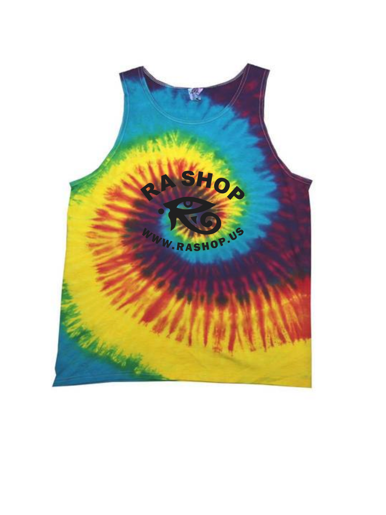 Ra Shop Tie Dye Tank Top Rainbow XL