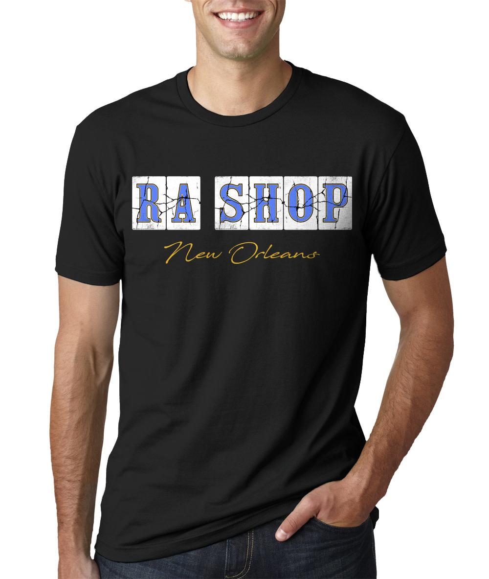 Ra Shop T-Shirt FQ Blue Tile Lg