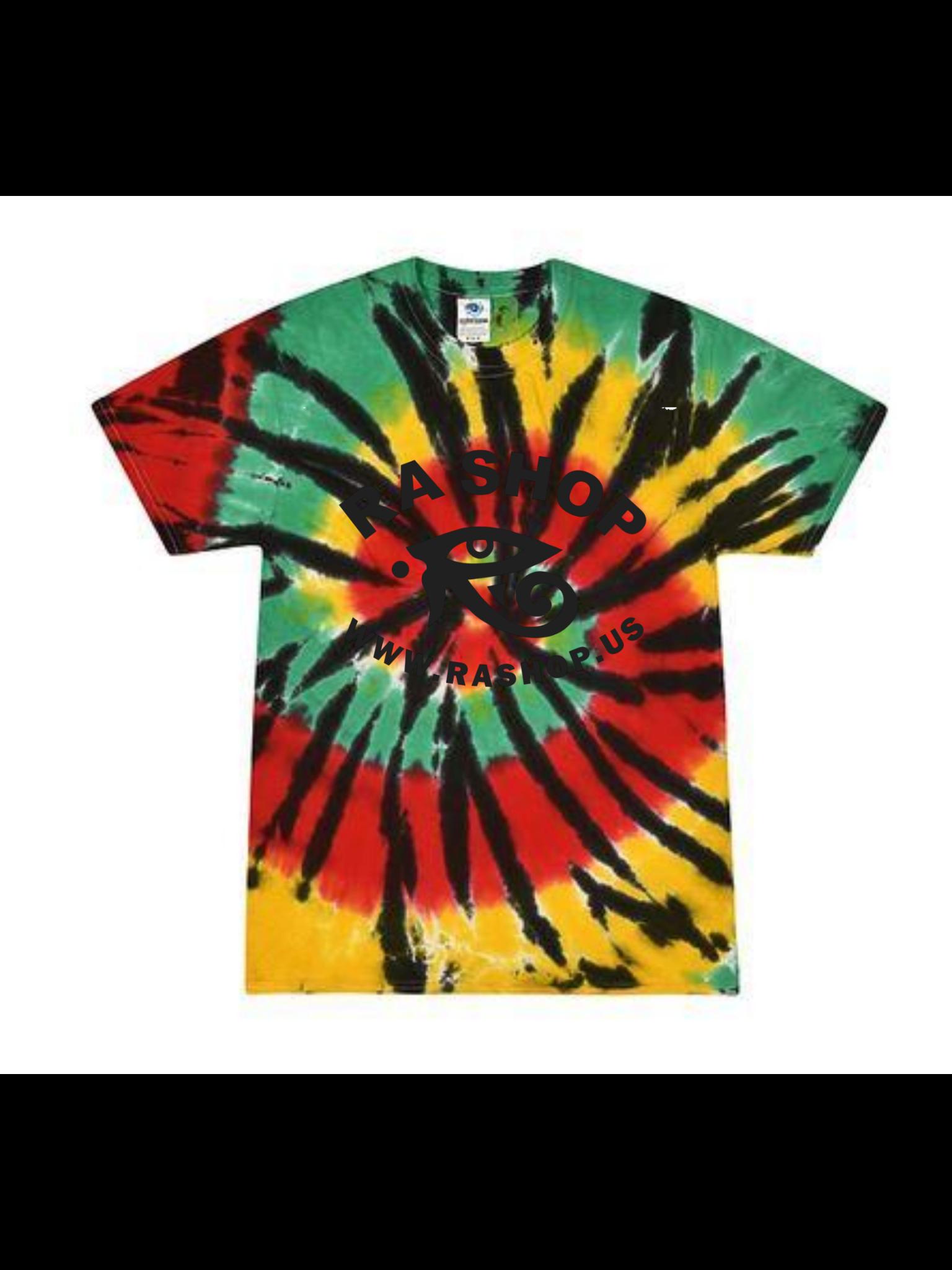Ra Shop  Tie Dye T-Shirt Rasta Web Md