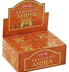 Hem 10pc Cones Precious Amber