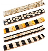 Bone Mosaic & Wood Incense Holder Natural Tone