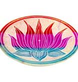 Soapstone Round Incense Holder Lotus Flower