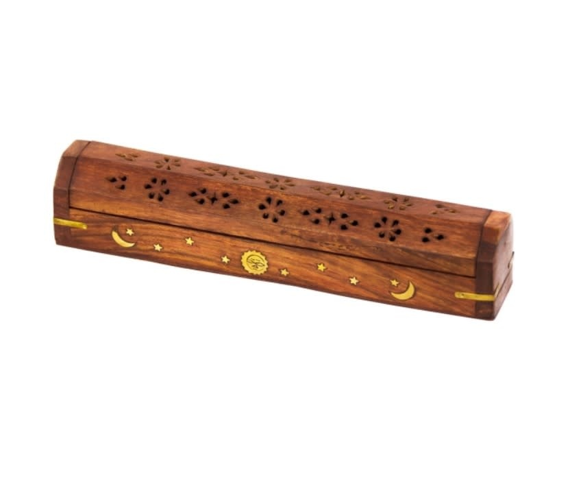 Wood Incense Storage Box Celestial