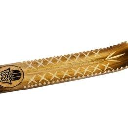 Wide Engraved Incense Holder Fatima Hand