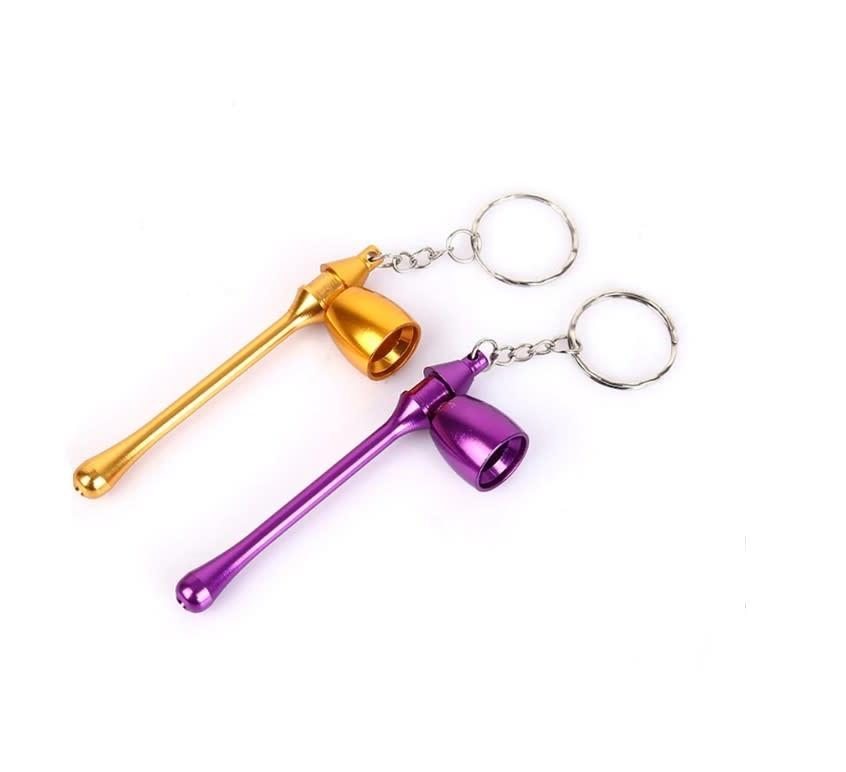 Metal Mushroom Keychain Pipe