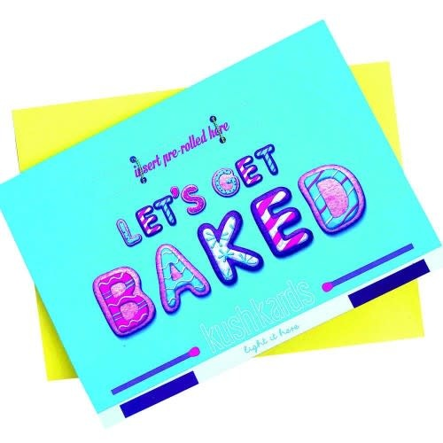 KushKard Let's Get Baked Card + One Hitter